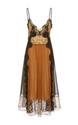 Medium alberta ferretti black deep v neck chiffon creponne dress
