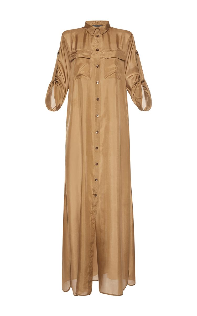 Long Silk Shirt Dress By Alberta Ferretti Moda Operandi