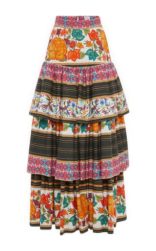 Medium stella jean white mietitore skirt
