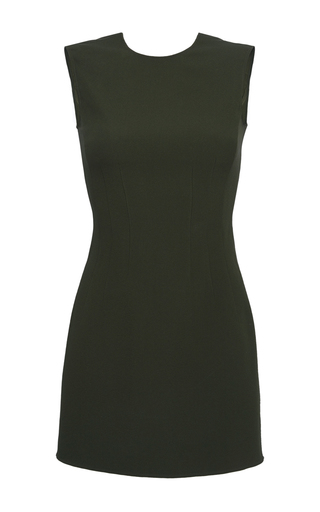 Medium versace green sleeveless sheath dress