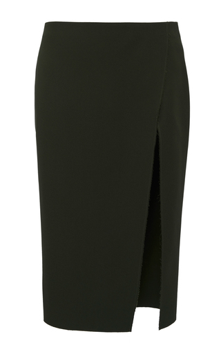 Medium versace green cotton wrap skirt