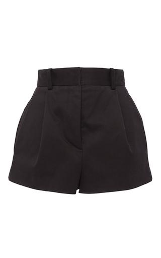 Medium versace black black stretch cotton shorts
