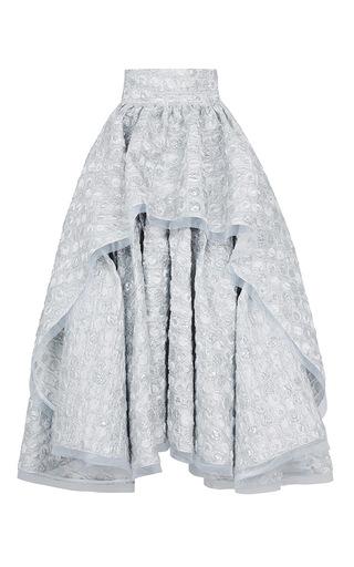 Medium maticevski silver marvel full skirt
