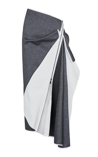 Medium maticevski navy denim contradiction skirt