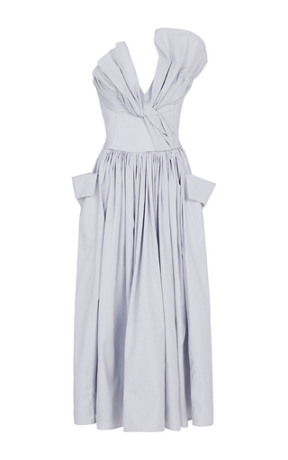 Medium maticevski light grey magic heart dress
