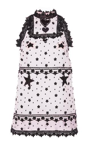 Medium giamba white star embellished shift dress