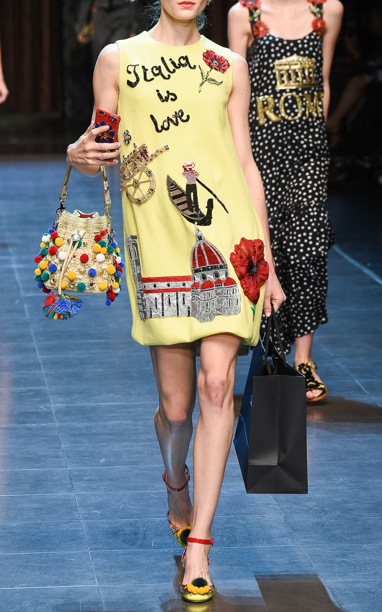 c7a10c84553 Italia Is Love Embellished Shift Dress by Dolce   Gabbana