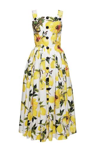 38bbc0f7926c Dolce & GabbanaNeedlepoint Lemon Print Poplin Dress