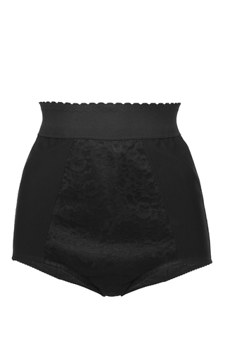 Medium dolce gabbana black black culottes with lace inset