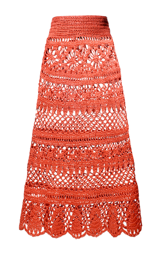 Crocheted Raffia Skirt | Moda Operandi