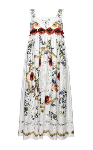 Medium dolce gabbana print printed poplin intaglio dress