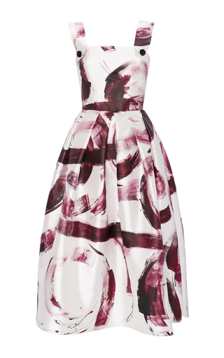 Medium dolce gabbana print brushstroke mikado print dress