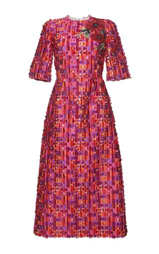Medium dolce gabbana multi geometric fil coupe short sleeve sheath dress