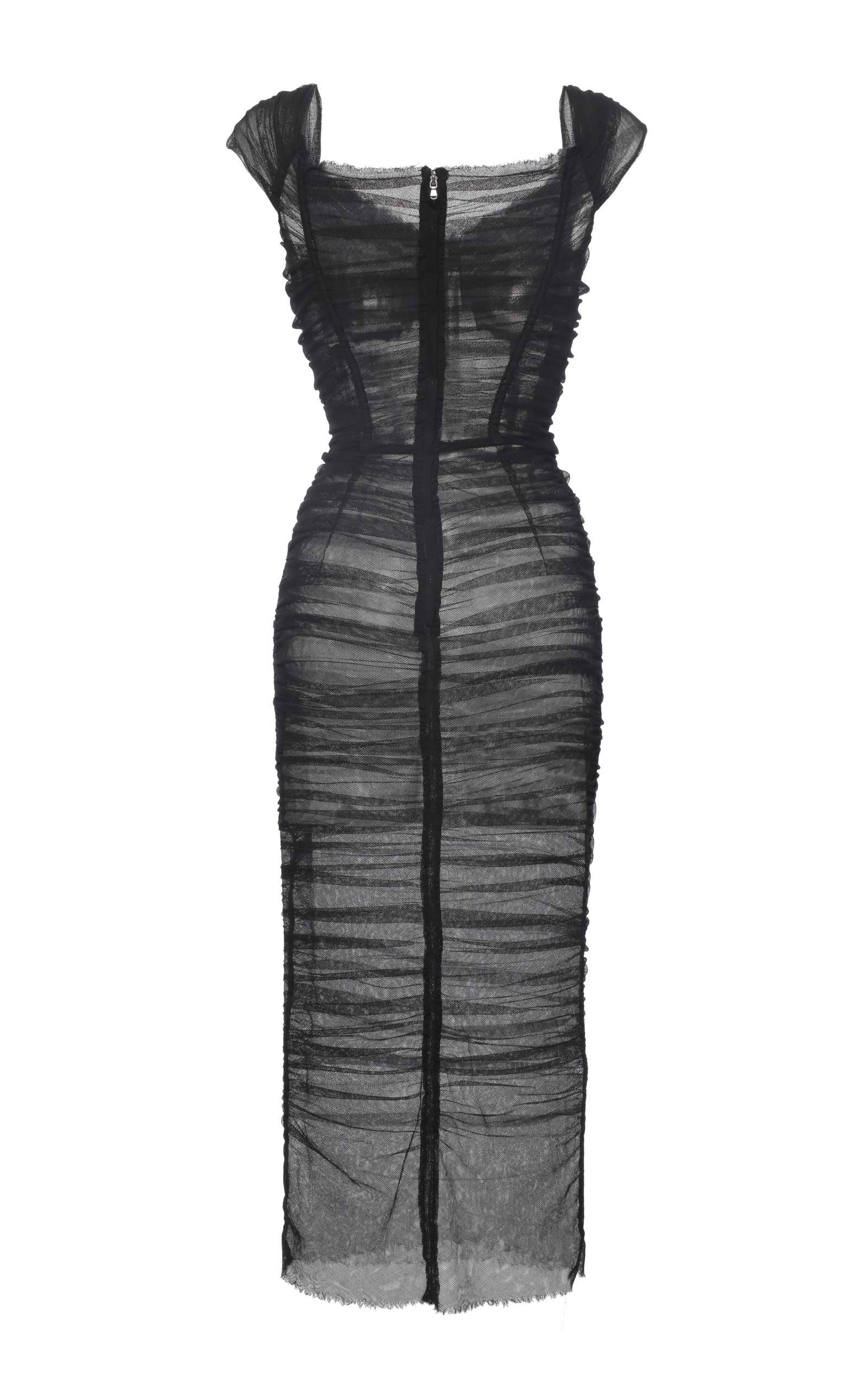 Ruched Tulle Dress