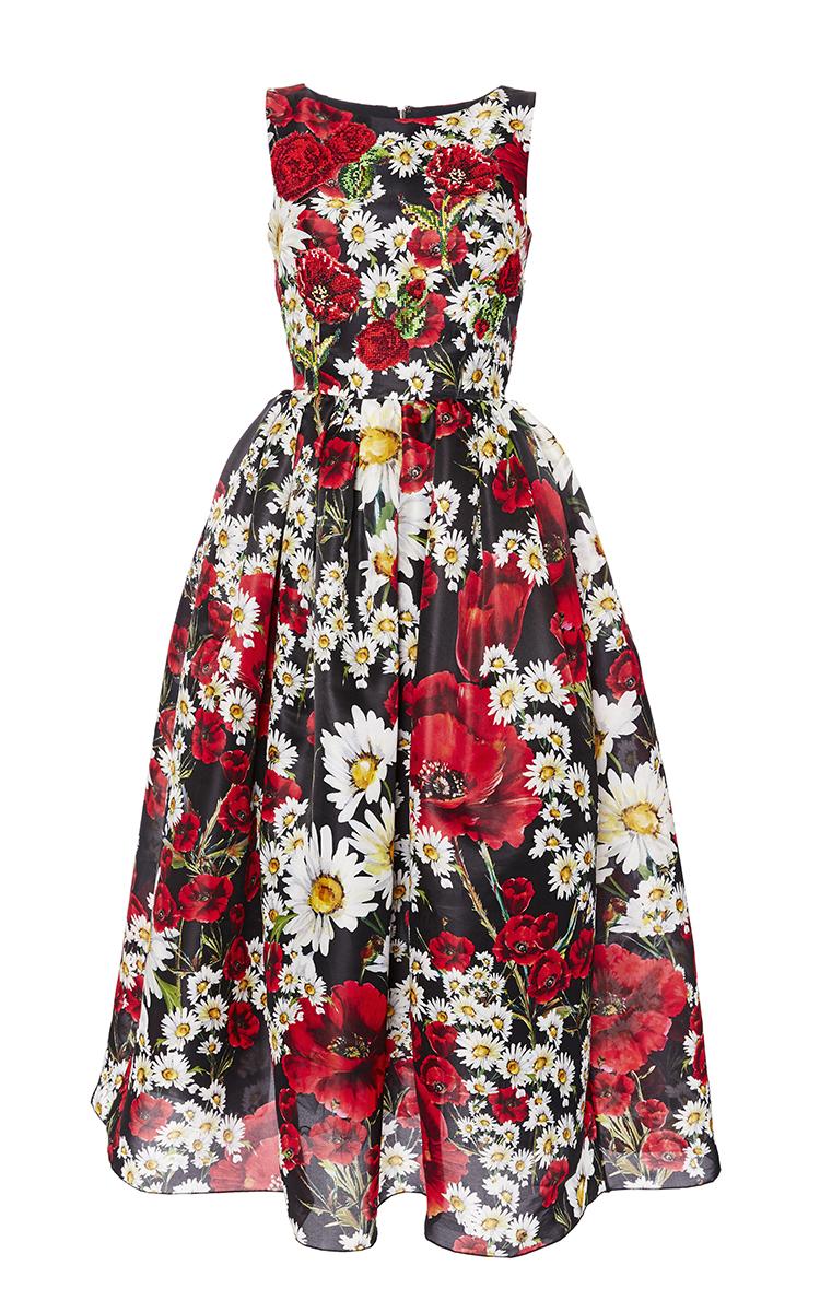 8ec52656 Poppy Print Sleeveless Organza Dress by Dolce & Gabbana | Moda Operandi