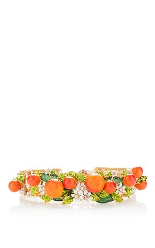 Medium dolce gabbana orange orange embellished crown hairpiece