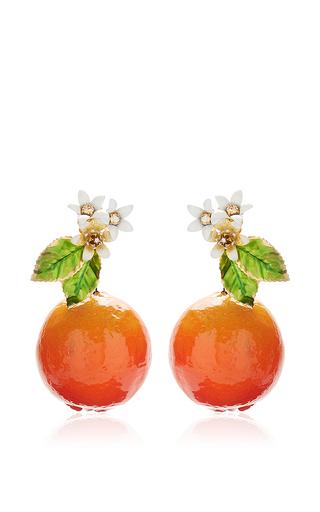 Medium dolce gabbana orange orange resin earrings