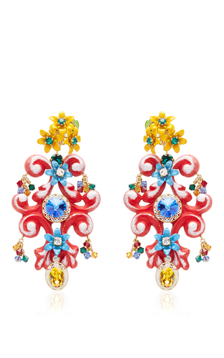 Medium dolce gabbana multi floral multicolored earrings
