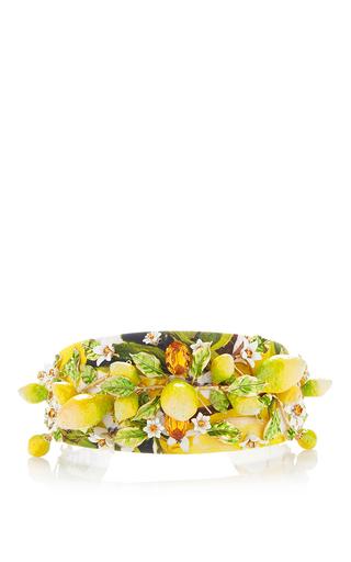 Medium dolce gabbana yellow lemon yellow green hairband