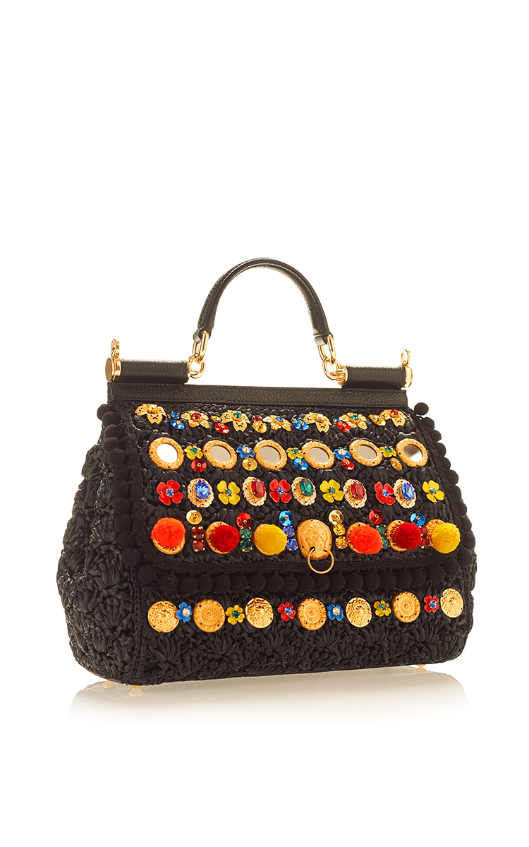 255e82d62d Dolce   GabbanaSicily in Raffia Shoulder Bag. CLOSE. Loading