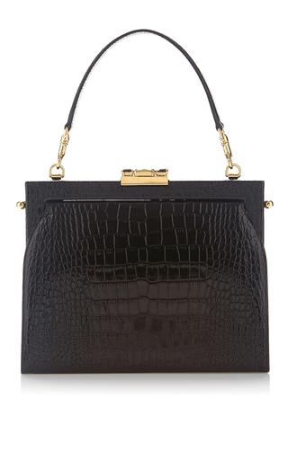 Medium dolce gabbana black adelina in crocodile top handle bag