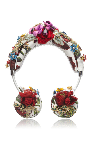 a6101199587c White floral Rose Headphones by Dolce   Gabbana