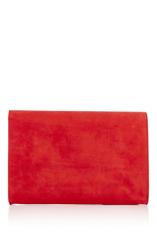 Flamma Suede Envelope Flat Clutch by MANSUR GAVRIEL Now Available on Moda Operandi