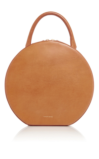 Medium mansur gavriel tan tan leather circle bag