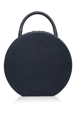 Medium mansur gavriel blue navy leather circle bag