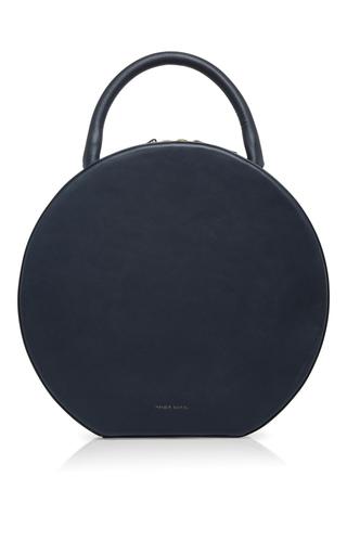 Medium mansur gavriel blue navy leather circle bag