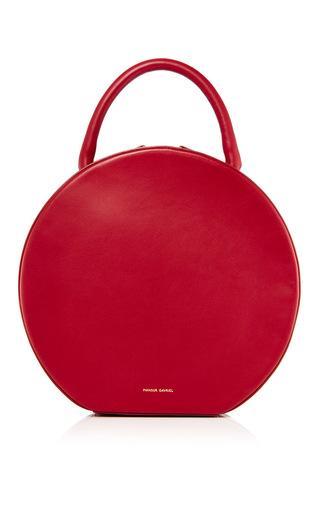 Medium mansur gavriel burgundy burgundy leather circle bag