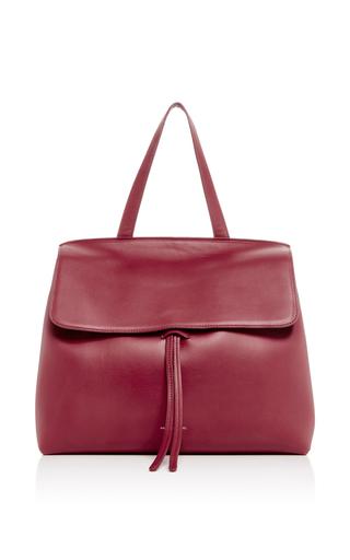 Medium mansur gavriel burgundy red calf leather lady bag
