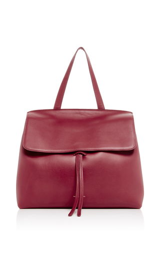 Medium mansur gavriel burgundy red calf leather lady bag