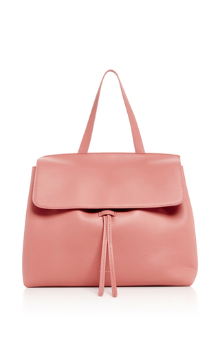 Medium mansur gavriel light pink blush calf leather lady bag