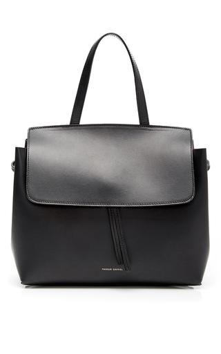 Medium mansur gavriel black black calf leather mini lady bag