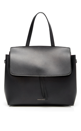 Medium mansur gavriel black black calf leather mini lady bag