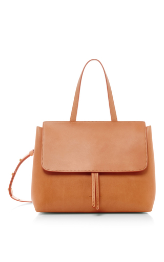 Medium mansur gavriel tan camello and gold mini lady bag