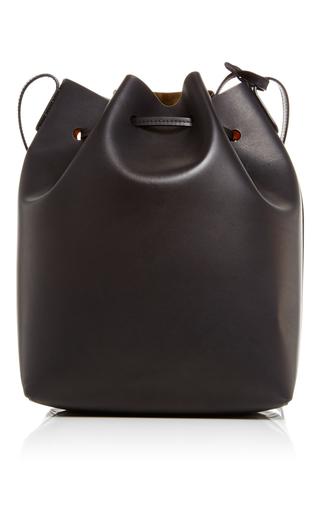 Black Leather Large Bucket Bag by MANSUR GAVRIEL Now Available on Moda Operandi