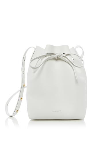 Medium mansur gavriel white mini bucket bag 2