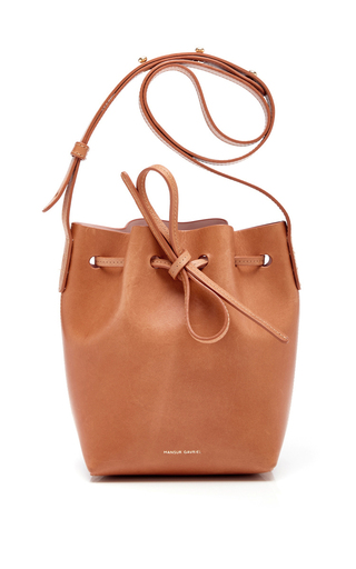 Medium mansur gavriel tan mini mini bucket bag