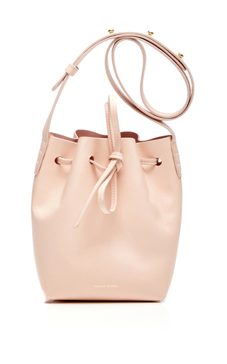 Medium mansur gavriel light pink rosa mini mini bucket bag