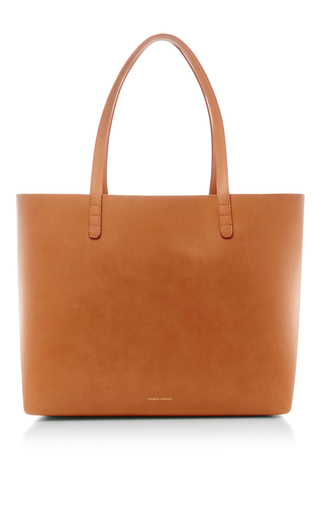Medium mansur gavriel tan camello and gold tote