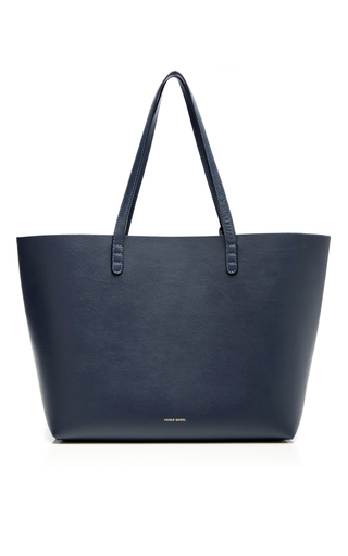 Medium mansur gavriel navy blu large tote bag