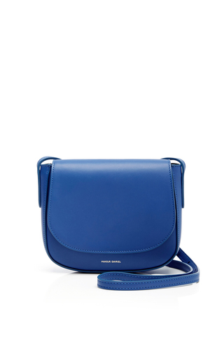 Medium mansur gavriel blue roayl blue mini crossbody bag
