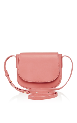 Medium mansur gavriel light pink blush calf leather mini crossbody bag