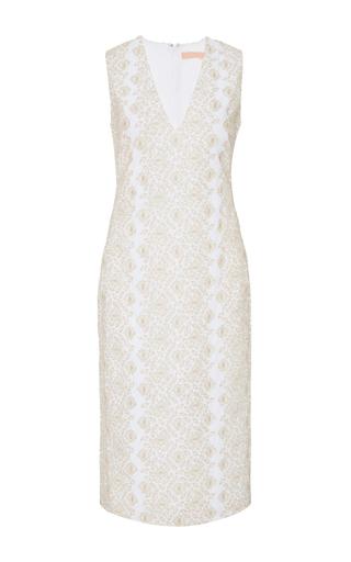 Medium brock silver diana metallic embroidered dress
