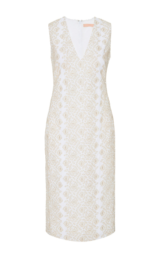 Medium brock silver diana metallic embroidered dress
