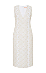 Diana Metallic Embroidered Dress by BROCK COLLECTION Now Available on Moda Operandi