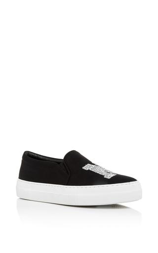 Medium joshua sanders black sparkle ny sneakers