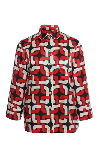 Medium for restless sleepers red red burgundy geometric cotton blend gea shirt